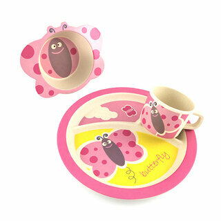 Bamboo feeding set Butterfly